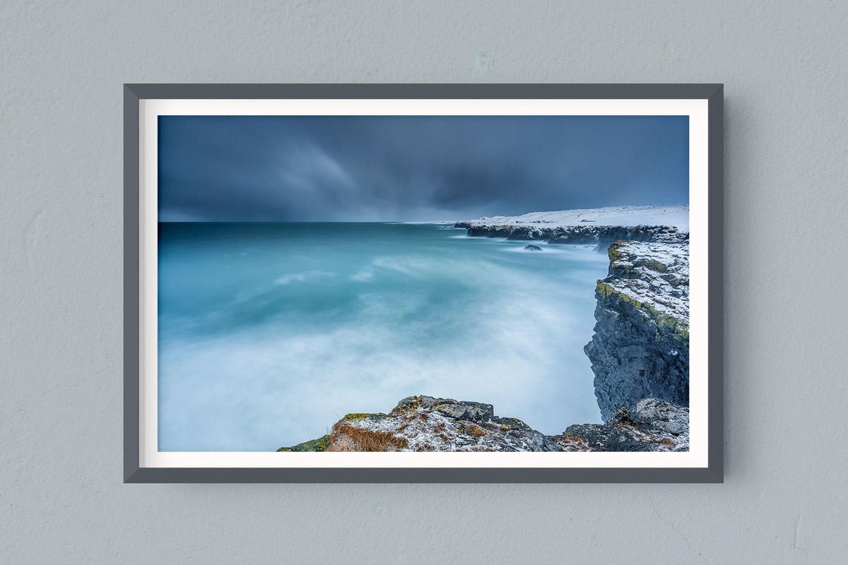 Francesco Gola FineArt Prints Home Interior Design Iceland Sunset Snaefellsnes peninsula Arnastarpi Long Exposure Seascape Landscape