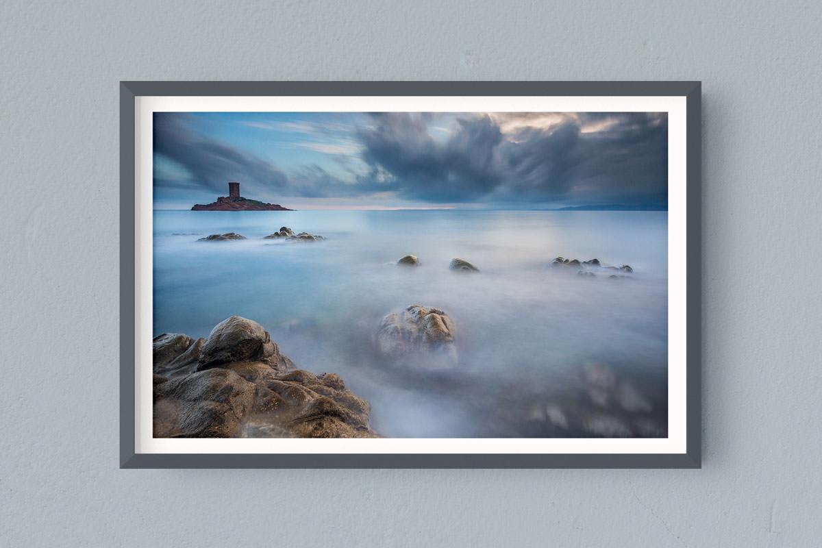 Francesco Gola FineArt Prints Home Interior Design France Cote Azur Dramont Long Exposure Seascape Landscape
