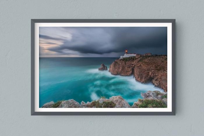 Francesco Gola FineArt Prints Home Interior Design Portugal Algarve Lighthouse Sao Vicente Vincent Long Exposure Seascape Landscape