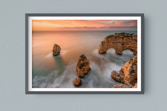 Francesco Gola FineArt Prints Home Interior Design Portugal Algarve Sunrise Praia da Marinha Long Exposure Seascape Landscape