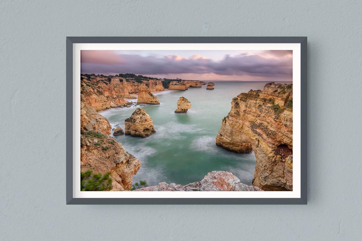 Francesco Gola FineArt Prints Home Interior Design Praia da da Marinha Portugal Algarve Storm Long Exposure Seascape Landscape Sunrise