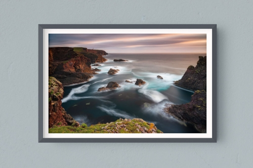 Francesco Gola FineArt Prints Home Interior Design UK Scotland Shetland Islands Eshaness Lighthouse Long Exposure Seascape Landscape