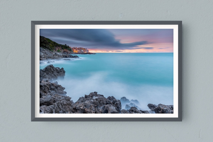Francesco Gola FineArt Prints Home Interior Design Italy Italia Tellaro Lerici Liguria Golfo Poeti Morning Long Exposure Seascape Landscape Sunrise
