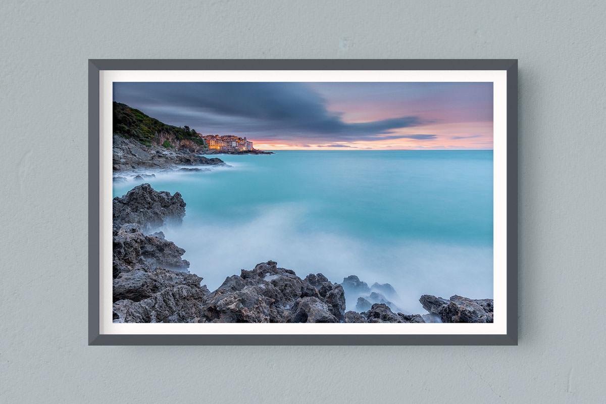 Francesco Gola FineArt Prints Home Interior Design Italy Italia Tellaro Lerici Liguria Golfo Poeti Morning Long Exposure Seascape Landscape Sunrise