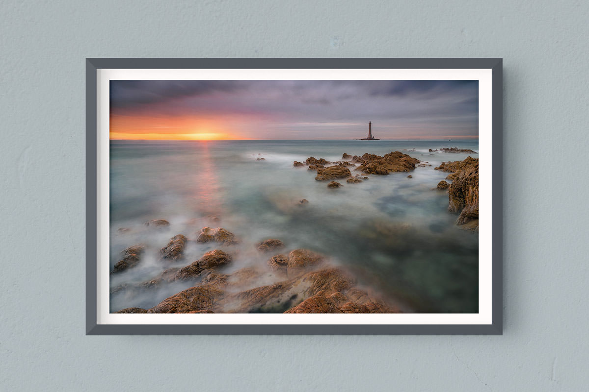 Francesco Gola FineArt Prints Home Interior Design France Hague Goury Lighthouse Bretagne Brittany Long Exposure Seascape Landscape Sunset Sunbeam