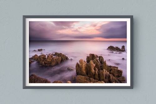 Francesco Gola FineArt Prints Home Interior Design France Cote Azur Storm Cannes Antibe Rain Long Exposure Seascape Landscape