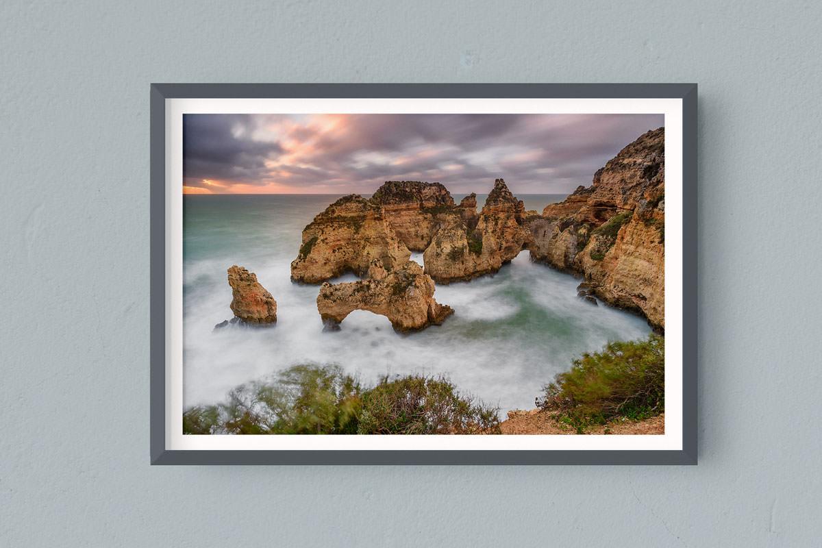 Francesco Gola FineArt Prints Home Interior Design Portugal Ponta Piedade Algarve Long Exposure Seascape Landscape