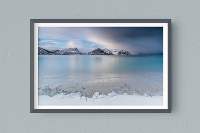 Francesco Gola FineArt Prints Home Interior Design Norway Lofoten Snow Long Exposure Seascape Landscape