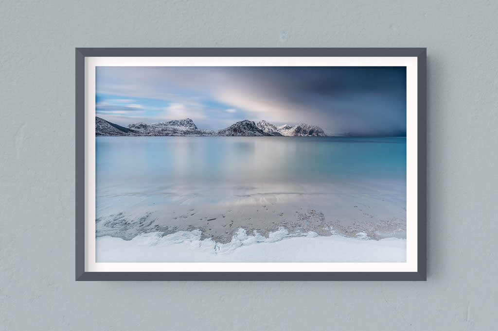 Francesco Gola FineArt Prints Home Interior Design Norway Lofoten Snow Long Exposure Seascape Landscape