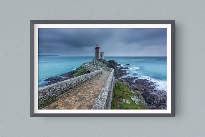 Francesco Gola FineArt Prints Home Interior Design France Conquet Petit Minout Lighthouse Long Exposure Seascape Landscape Bretagne Brittany Rain
