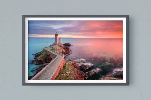 Francesco Gola FineArt Prints Home Interior Design France Conquet Petit Minou Lighthouse Long Exposure Seascape Landscape Bretagne Brittany Sunset