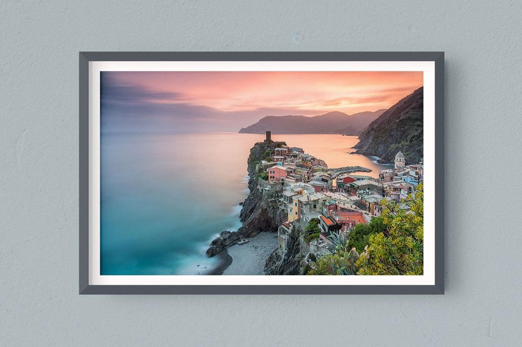 Francesco Gola FineArt Prints Home Interior Design Cinque Terre Vernazza Long Exposure Seascape Landscape