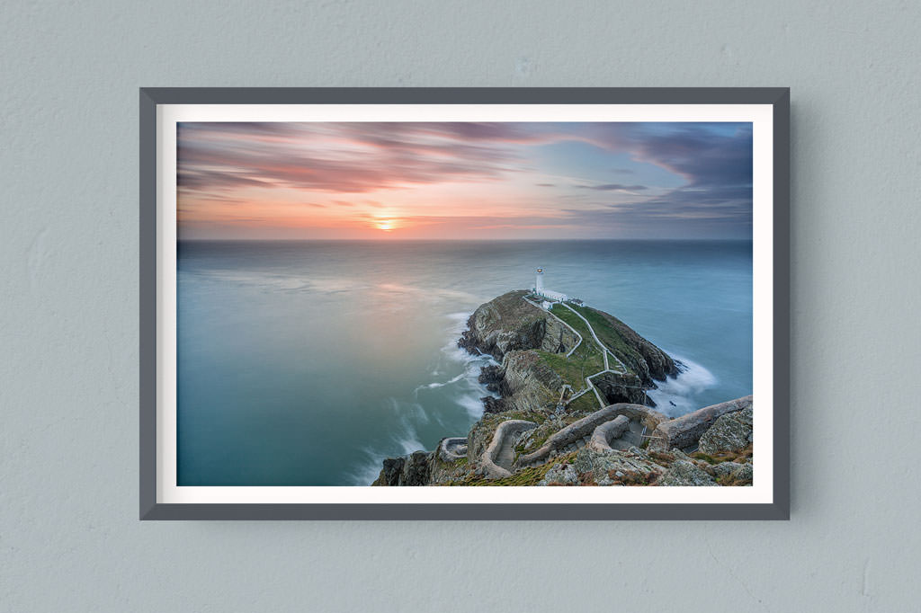 Francesco Gola FineArt Prints Home Interior Design South Stack Lighthouse UK Wales Long Exposure Seascape Landscape