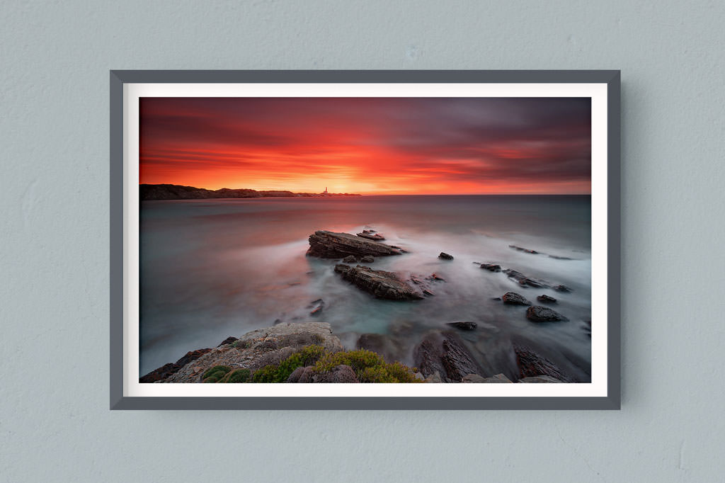 Francesco Gola FineArt Prints Home Interior Design Spain Minorca Menorca Favaritx Lighthouse Long Exposure Seascape Landscape