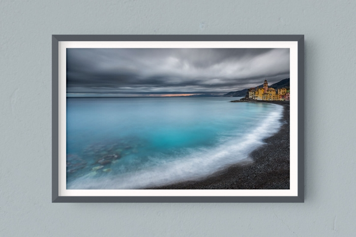 Francesco Gola FineArt Prints Home Interior Design Italy Italia Liguria Camogli Inverso Winter Long Exposure Seascape Landscape