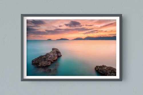 Francesco Gola FineArt Prints Home Interior Design Italy Italia Liguria Golfo Poeti Lerici Long Exposure Seascape Landscape Portovenere Spezia Tramonto