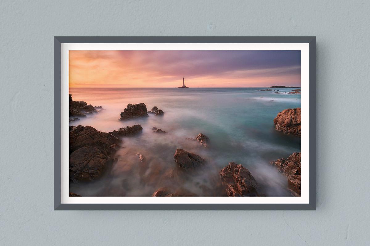 Francesco Gola FineArt Prints Home Interior Design France Hague Goury Lighthouse Bretagne Long Exposure Seascape Landscape Brittany Sunset