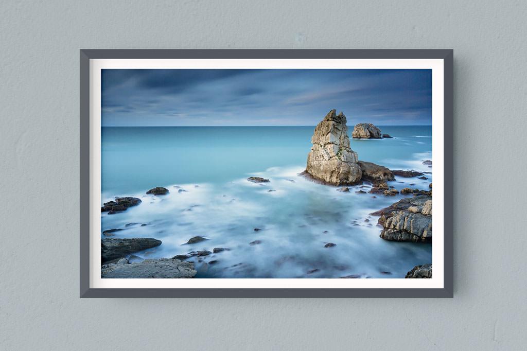 Francesco Gola FineArt Prints Home Interior Design Santander Urros Spain Costa Quebrada Cantabria Long Exposure Seascape Landscape Cold Pillar