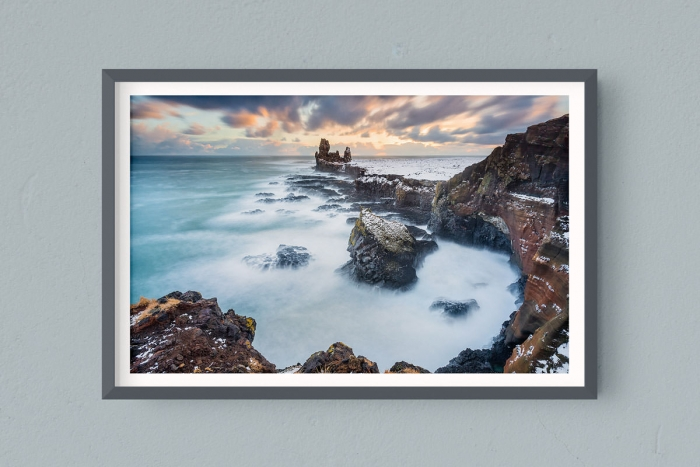 Francesco Gola FineArt Prints Home Interior Design Iceland Sunset Snaefellsnes peninsula Long Exposure Seascape Landscape