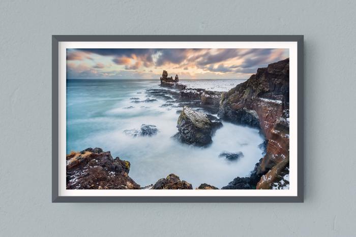 Francesco Gola FineArt Prints Home Interior Design Iceland Sunset Snaefellsnes peninsula Long Exposure Seascape Landscape
