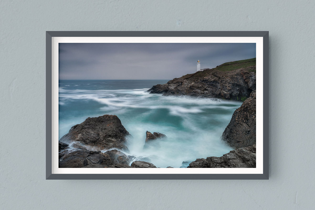 Francesco Gola FineArt Prints Home Interior Design Seascape Landscape Long Exposure UK Trevose Head Cornwall Devon Storm Rain COld