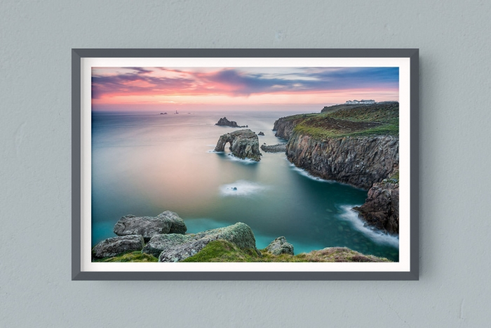 Francesco Gola FineArt Prints Home Interior Design Seascape Landscape Long Exposure UK England Cornwall Land End Lighthouse Sunset