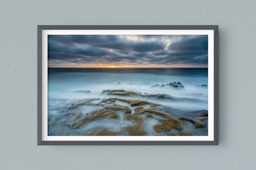 Francesco Gola FineArt Prints Home Interior Design Seascape Landscape Long Exposure USA San Diego Jolla Sunset
