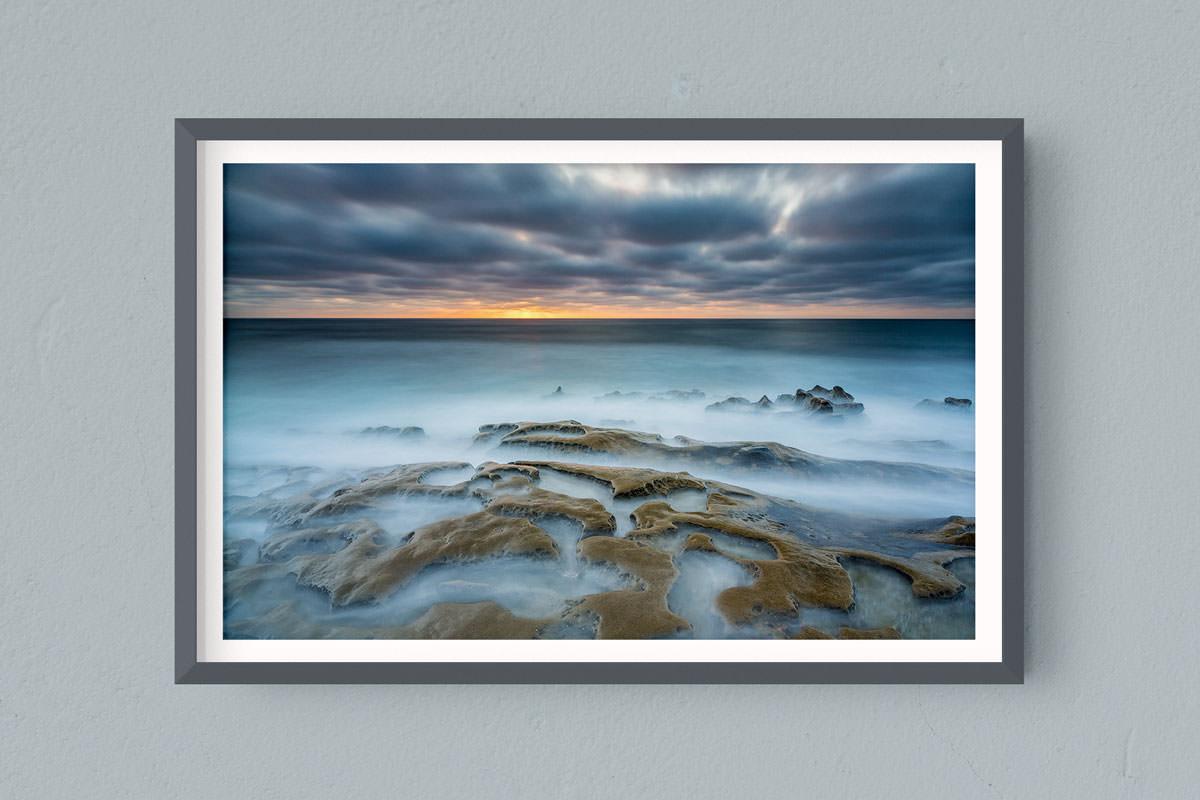 Francesco Gola FineArt Prints Home Interior Design Seascape Landscape Long Exposure USA San Diego Jolla Sunset