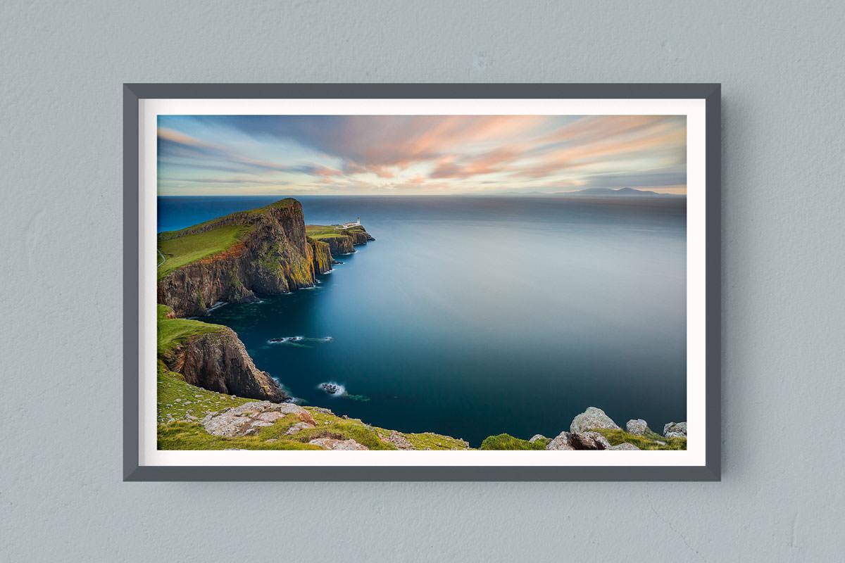 Francesco Gola FineArt Prints Home Interior Design Seascape Landscape Long Exposure Scotland Skye Neist Point Lighthouse Apple