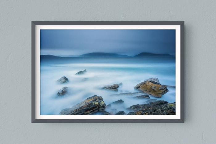 Francesco Gola FineArt Prints Home Interior Design Seascape Landscape Long Exposure Scotland Elgol Pier Clouds Cold