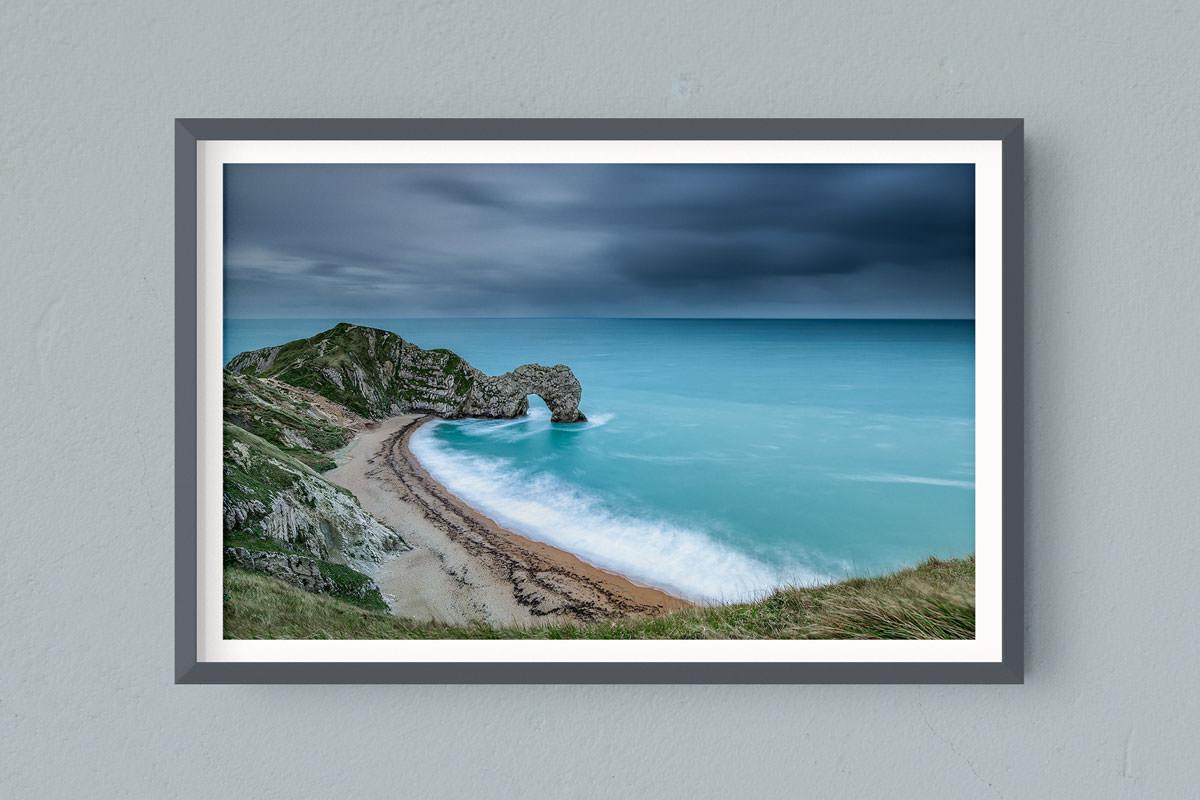 Francesco Gola FineArt Prints Home Interior Design Seascape Landscape Long Exposure UK Durdle Door Cold Sunrise rain Storm Jurassik Coast Dorset