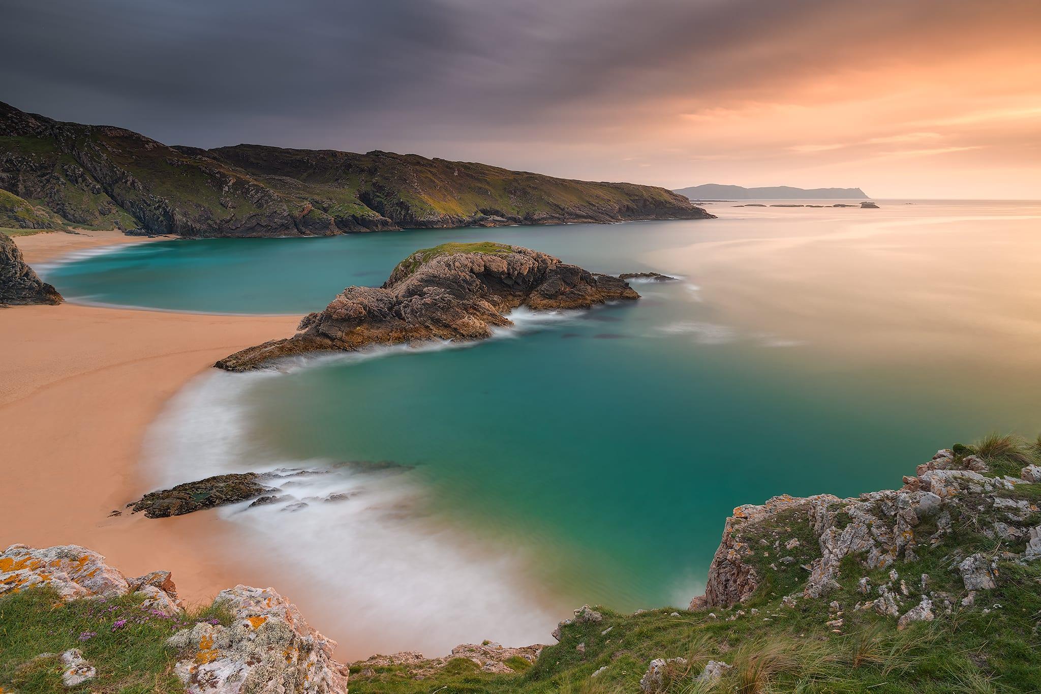 Francesco Gola Ireland Seascape Landscape Europe Murder Hole Beach Donegal Sunset Summer Warm Fine Art Print