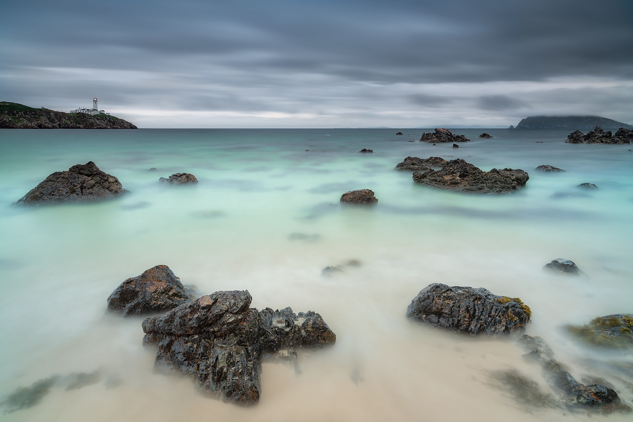 Francesco Gola Ireland Donegal Fanad Head Lighthouse Long Exposure Seascape