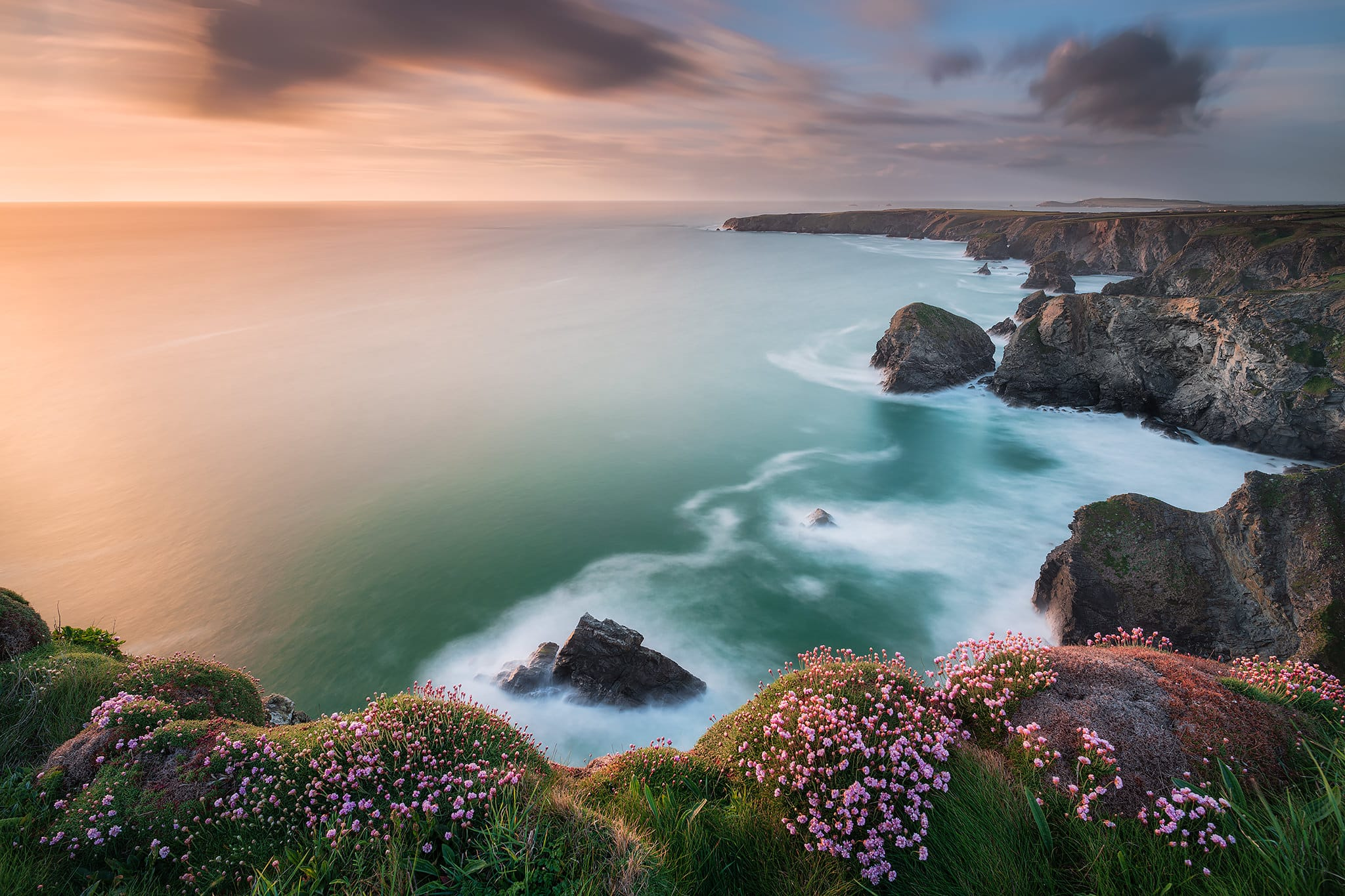 Francesco Gola Long Exposure Photography Seascape UK Cornwall Bedruthan Steps