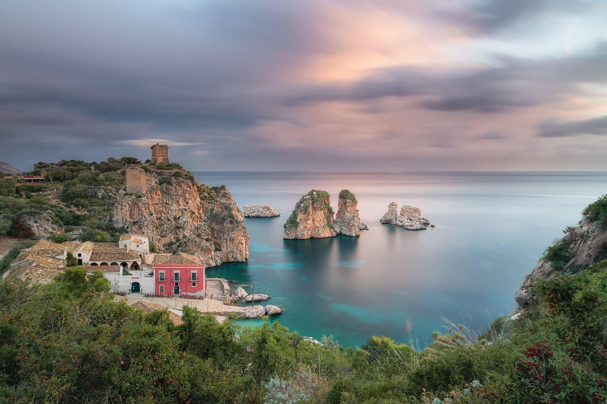 Francesco Gola Tonnara di Scopello Sicilia Sicily Lunga Esposizione Long Exposure Seascape Italy Italia