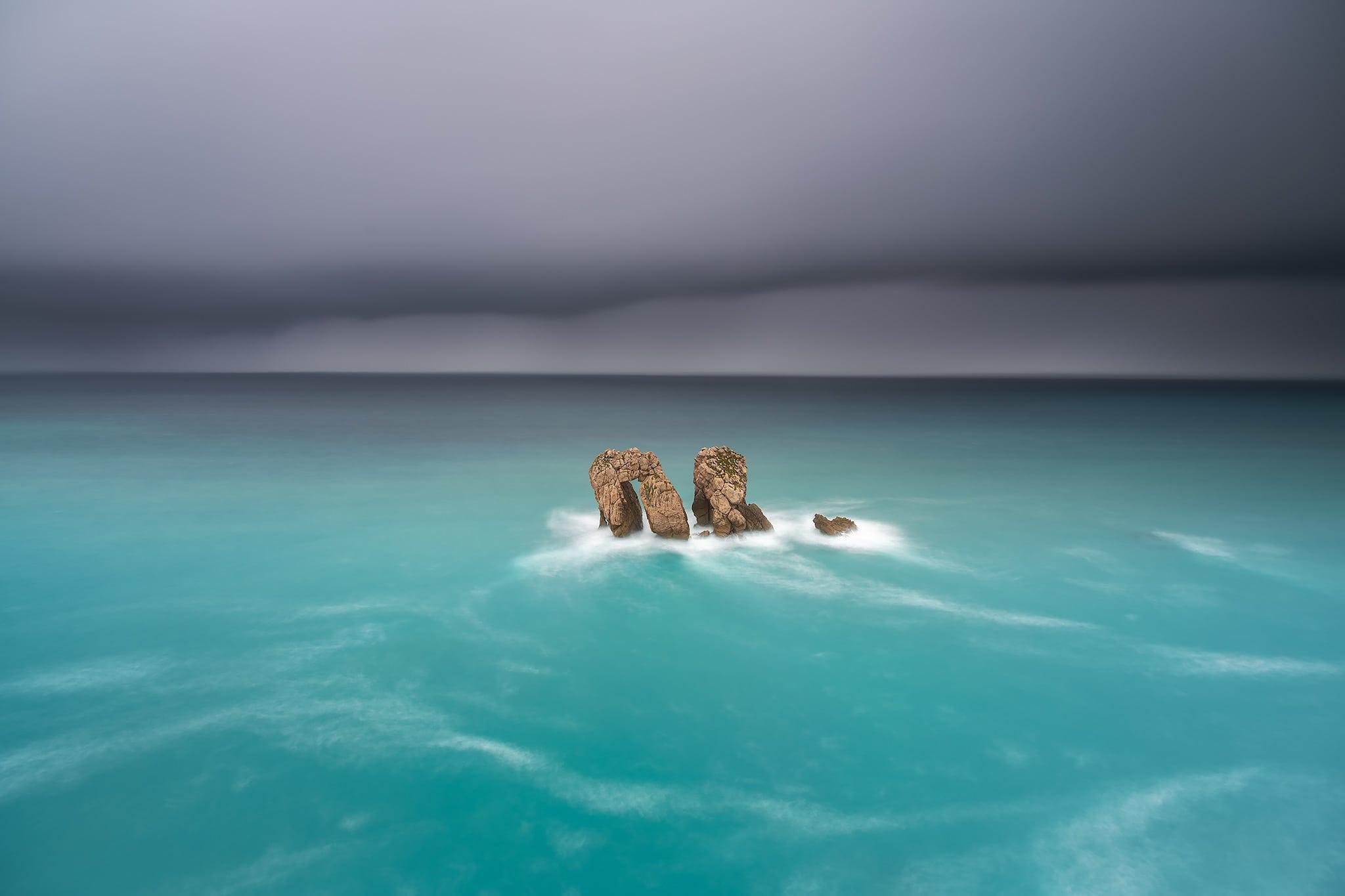 Francesco Gola Seascape Long Exposure Photography Landscape Spain Europe Santander Liencres Storm