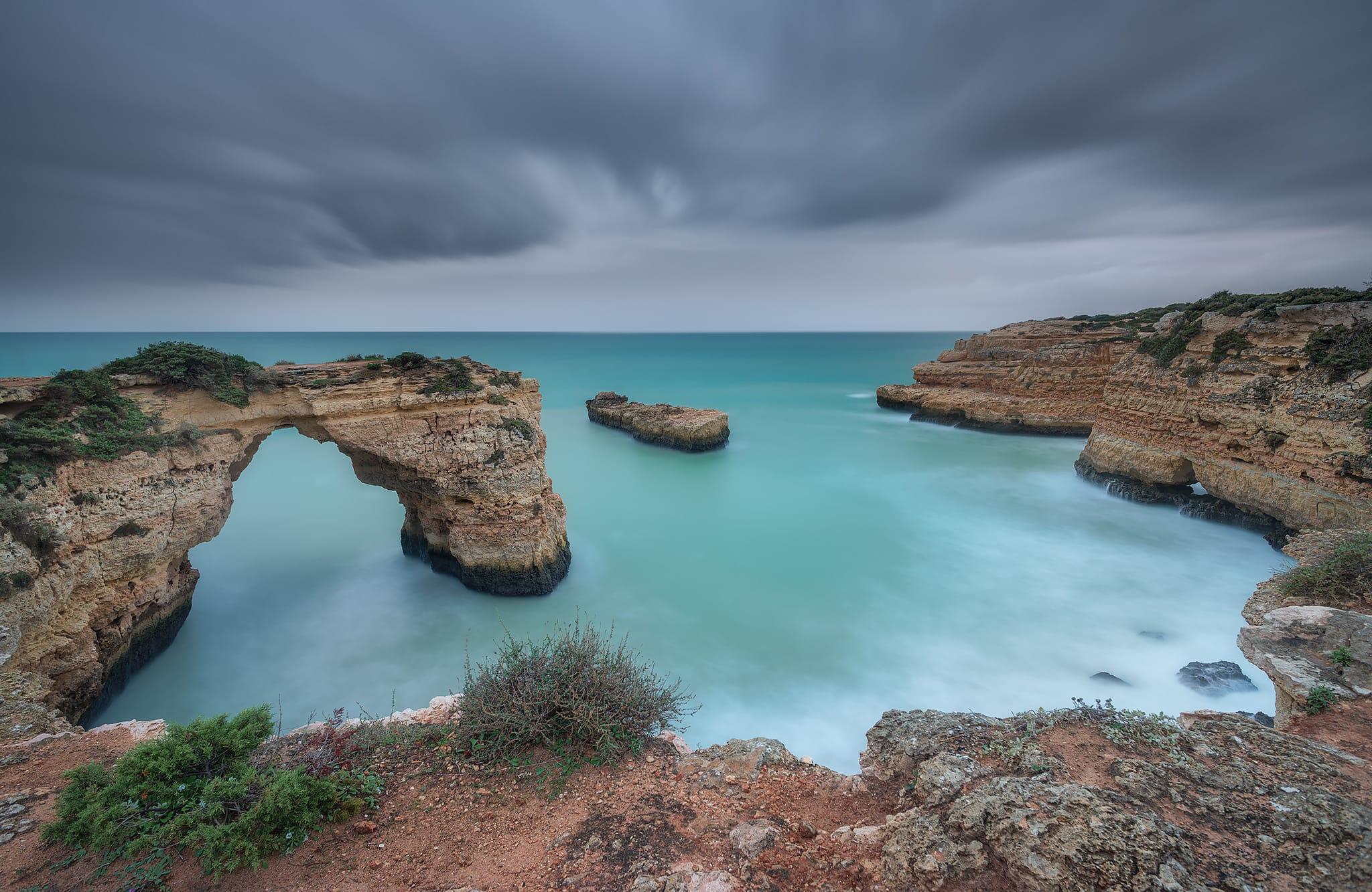 DSC_0705-2048 Francesco Gola Long Exposure Storm Algarve Portugal Blue Albandeira Seascape